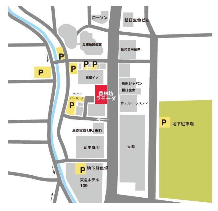 コインパーキング駐車場マップ